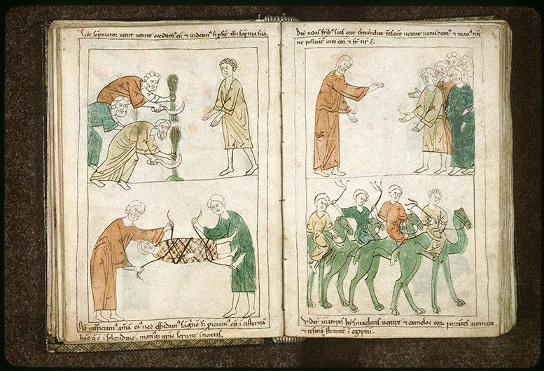 Bible en images - Joseph arrivant près de ses frères qui moissonnent_0