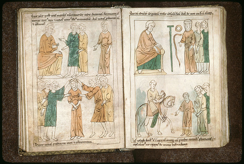 Bible en images - Juda apprenant la grossesse de Tamar_0