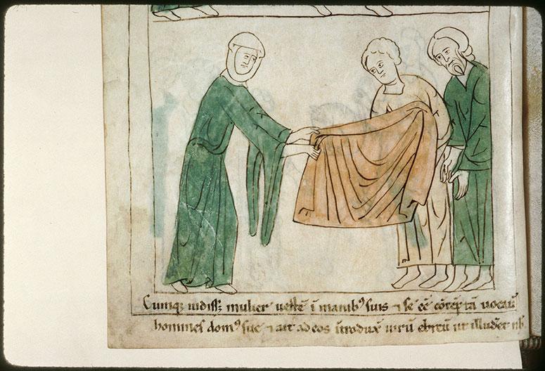 Bible en images - Femme de Putiphar montrant le vêtement de Joseph aux gens de sa maison_0