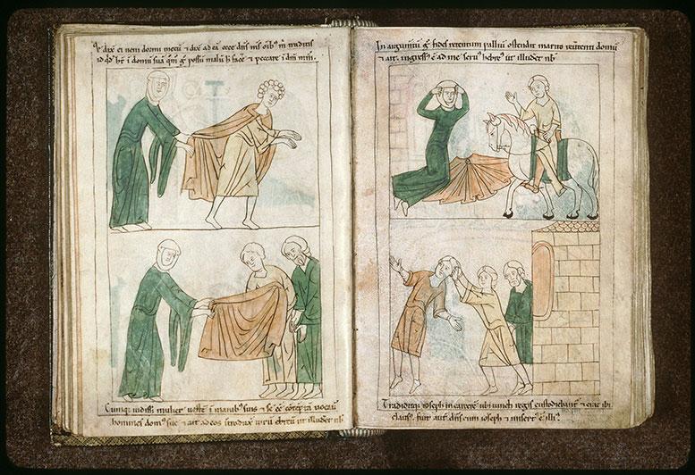Bible en images - Joseph arrêté par les gens de Putiphar_0