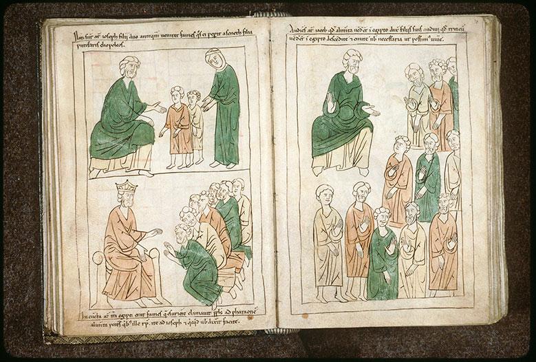 Bible en images - Joseph, Asnat et leurs fils, Manassé et Ephraïm_0