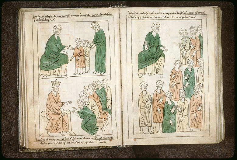 Bible en images - Jacob envoyant ses fils en Egypte_0