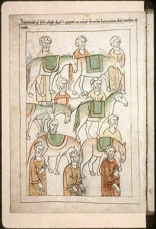 Bible en images - Frères de Joseph allant en Egypte (Les)_0