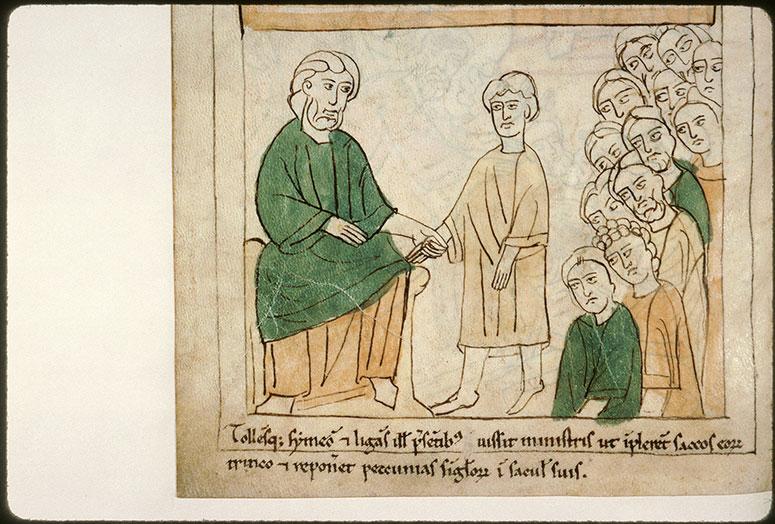 Bible en images - Joseph prenant son frère Siméon en otage_0