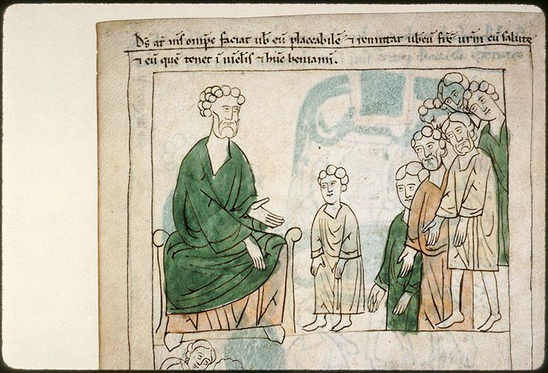Bible en images - Jacob confiant Benjamin à ses frères_0