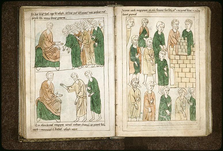 Bible en images - Jacob et les siens allant en Egypte_0