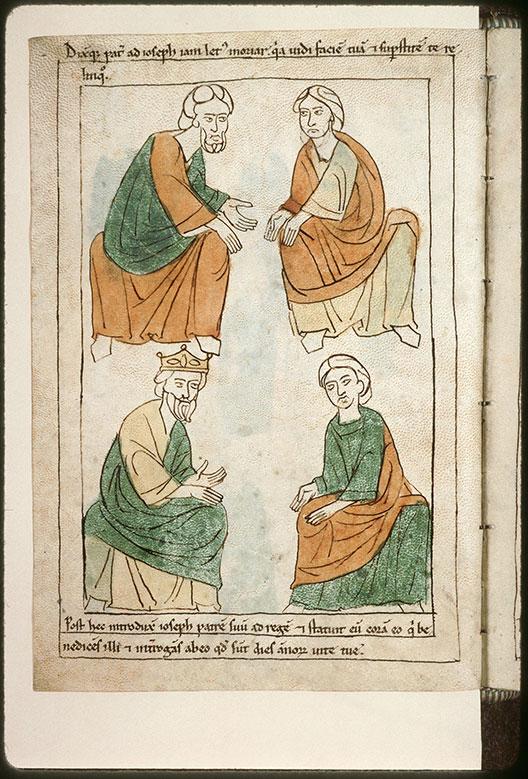Bible en images - Jacob retrouvant Joseph en Egypte_0