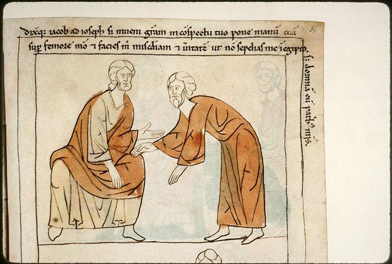 Bible en images - Joseph jurant à Jacob de l'enterrer en Canaan_0