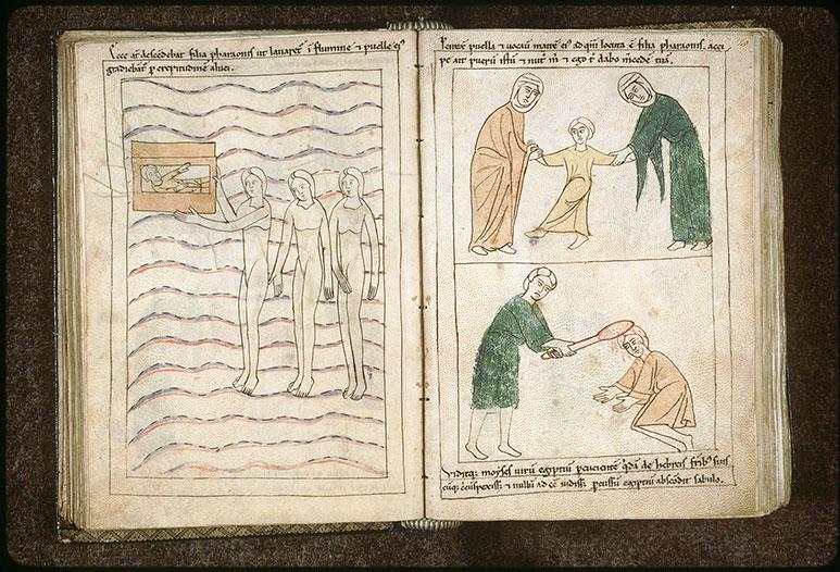 Bible en images - Moïse confié à sa mère par la fille de Pharaon_0