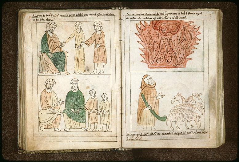 Bible en images - Moïse, Çippora et leurs fils Gershom et Eliézer_0