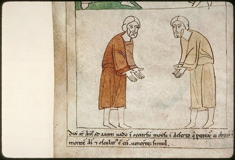 Bible en images - Retrouvailles de Moïse et d'Aaron_0