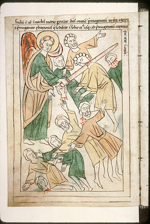 Bible en images - Dixième plaie d'Egypte : la mort des premiers-nés des hommes_0