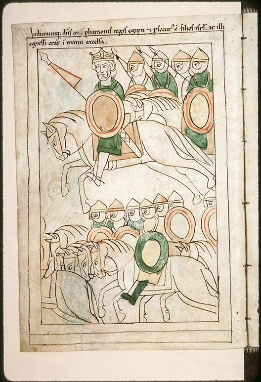 Bible en images - Pharaon et son armée à la poursuite des Hébreux_0