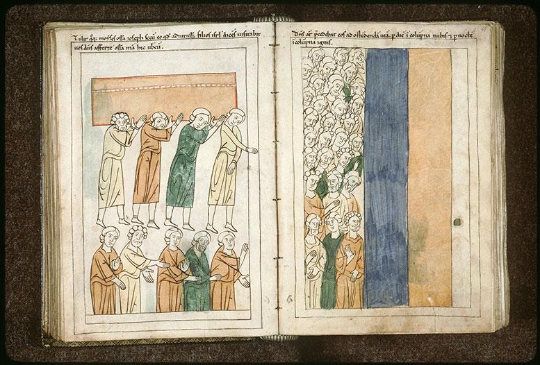 Bible en images - Hébreux guidés par des colonnes de nuée ou de feu_0