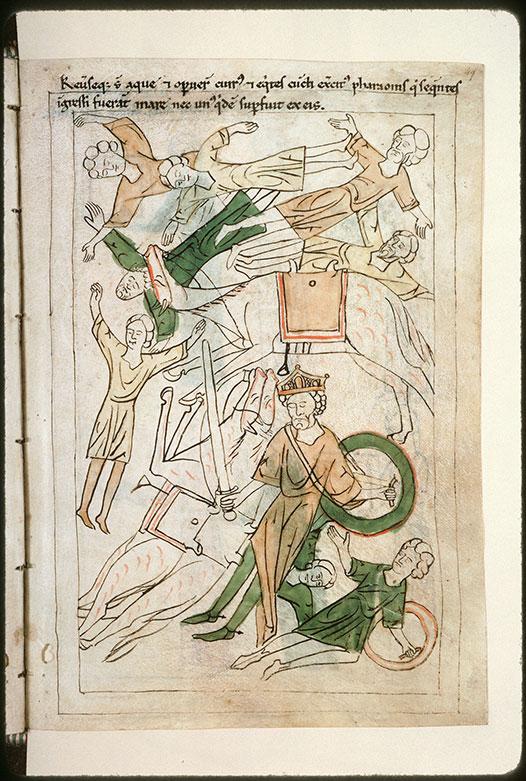 Bible en images - Pharaon et son armée engloutis par les flots_0