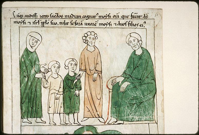 Bible en images - Rencontre de Jéthro et de Moïse_0