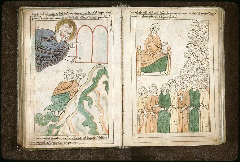 Bible en images - Moïse recevant les tables de la Loi_0