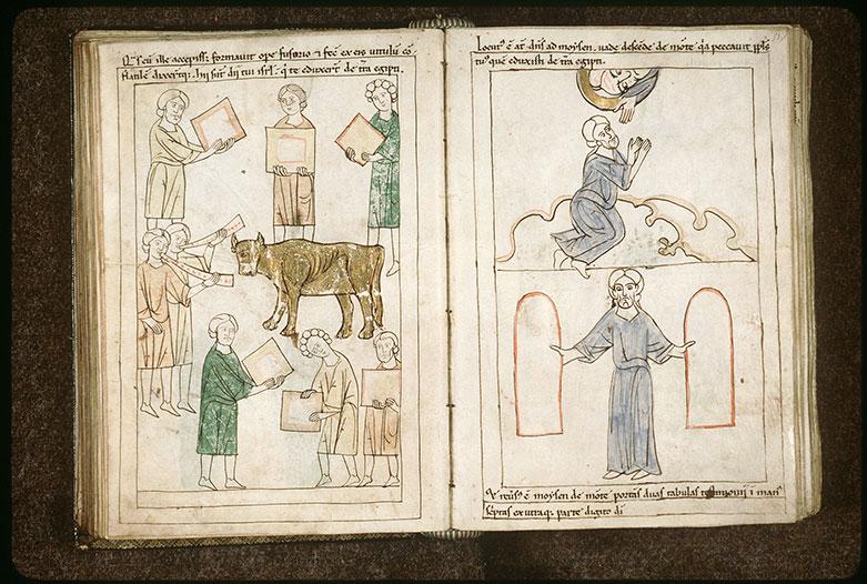 Bible en images - Moïse tenant les tables de la Loi_0