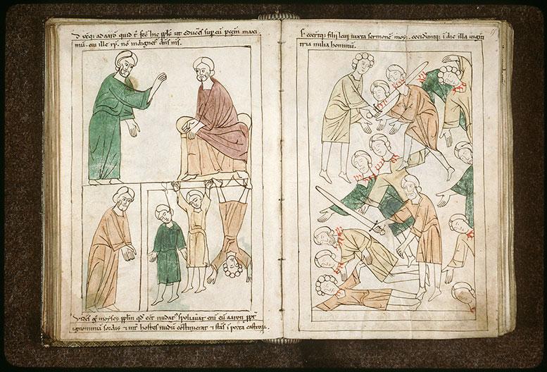 Bible en images - Lévites massacrant les idolâtres_0