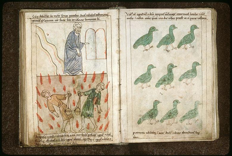 Bible en images - Moïse descendant du Sinaï avec les nouvelles tables de la Loi_0