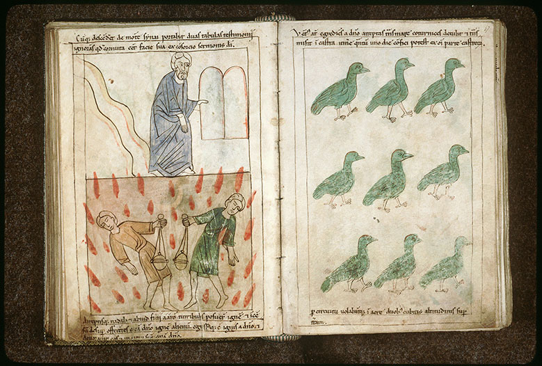 Bible en images - Châtiment de Nadab et Abihu_0
