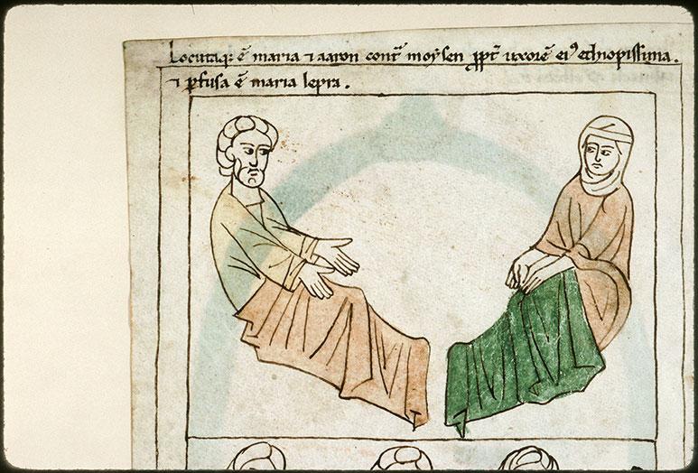 Bible en images - Aaron et Miryam frappée de la lèpre_0