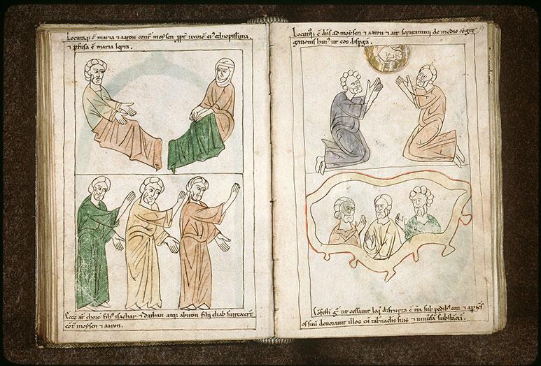 Bible en images - Dieu parlant à Moïse et à Aaron_0