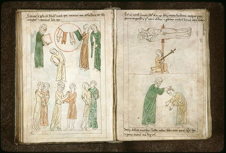 Bible en images - Moïse imposant les mains à Josué_0