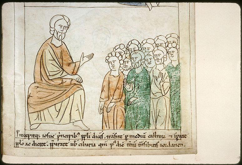 Bible en images - Josué donnant ses instructions pour la traversée du Jourdain_0