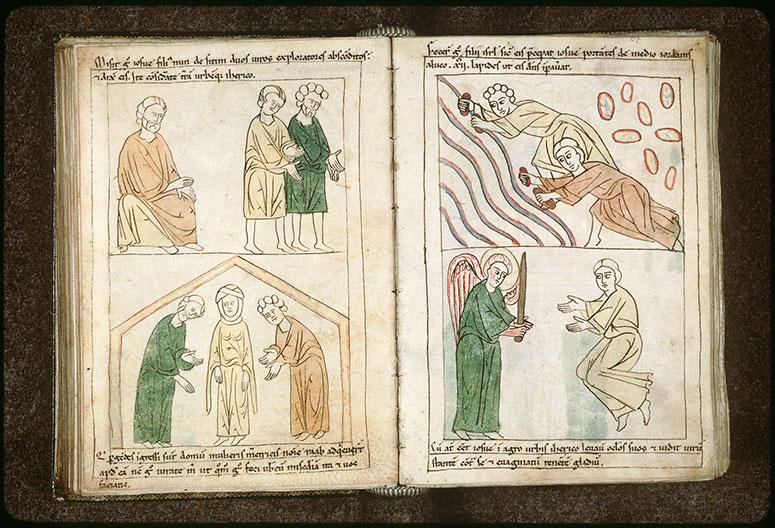 Bible en images - Rahab cachant les espions de Josué dans sa maison_0