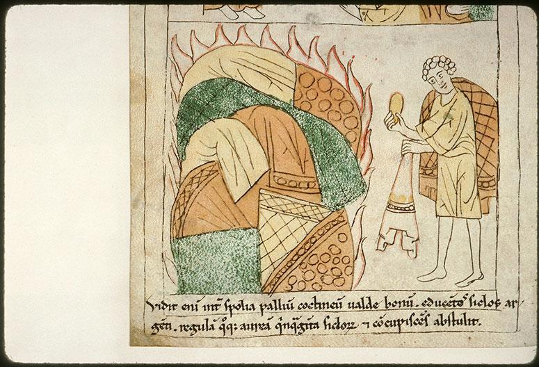 Bible en images - Akân et ses biens incendiés_0