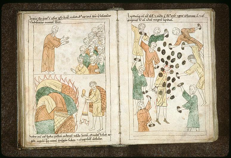 Bible en images - Lapidation d'Akân_0