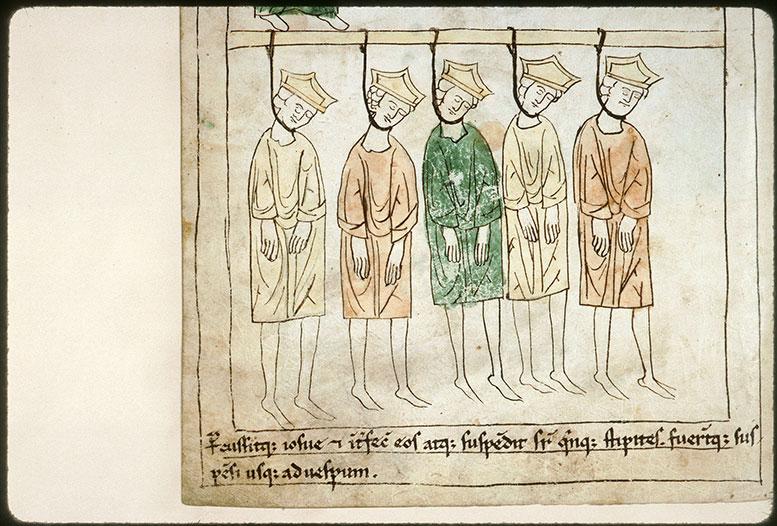 Bible en images - Cinq rois amorites pendus (Les)_0