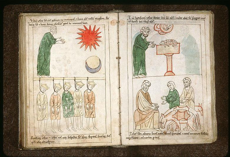 Bible en images - Gabaonites demandant à Josué son alliance_0