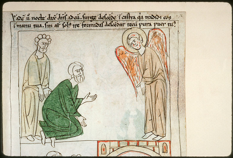 Bible en images - Ange apparaissant à Gédéon, et Pura_0