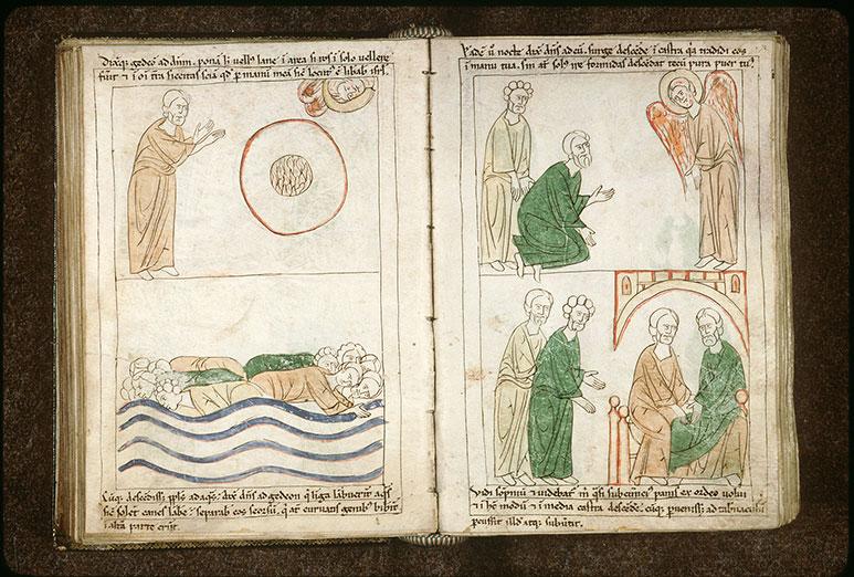 Bible en images - Gédéon et Pura écoutant le récit d'un rêve dans le camp de Madiân_0