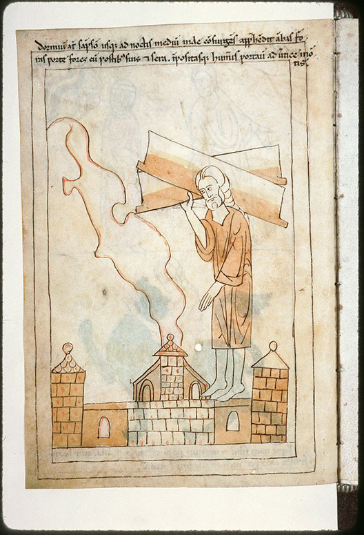 Bible en images - Samson emportant les portes de Gaza_0