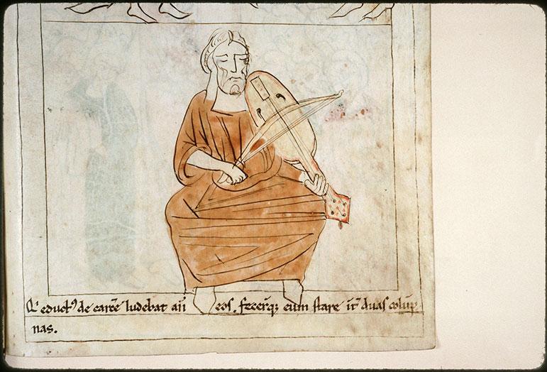 Bible en images - Samson jouant de la vièle_0