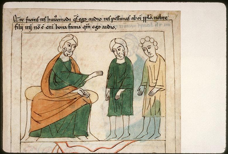 Bible en images - Eli réprimandant ses fils_0