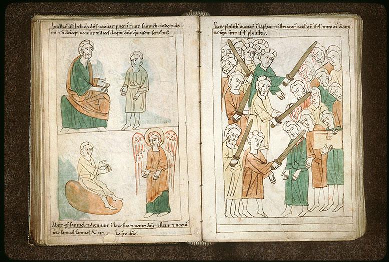 Bible en images - Israélites vaincus par les Philistins_0