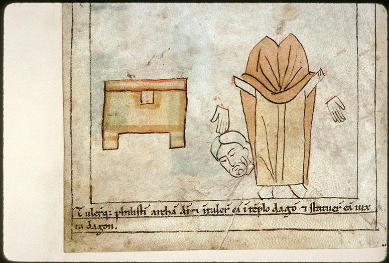 Bible en images - Destruction de l'idole de Dagôn_0