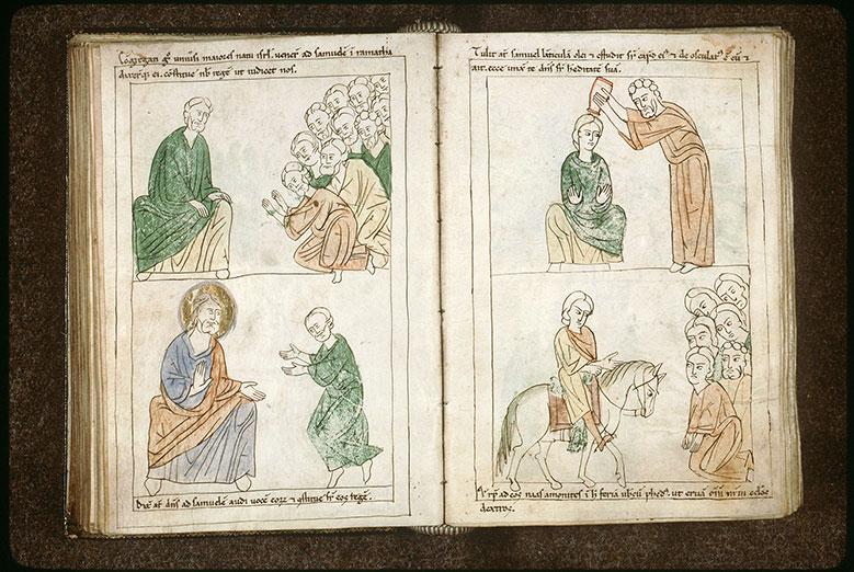 Bible en images - Peuple demandant un roi à Samuel_0