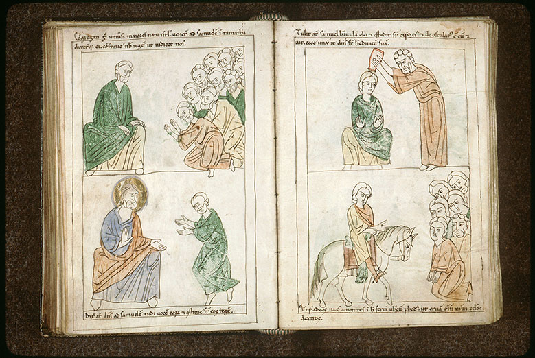 Bible en images - Onction de Saül par Samuel_0