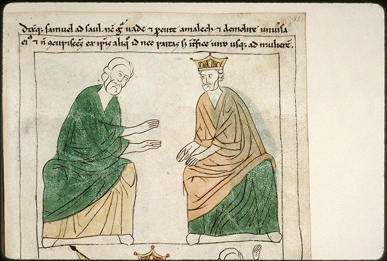 Bible en images - Samuel parlant à Saül contre les Amalécites_0