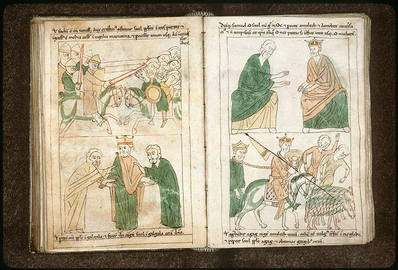 Bible en images - Saül vainqueur des Amalécites et Agag captif_0