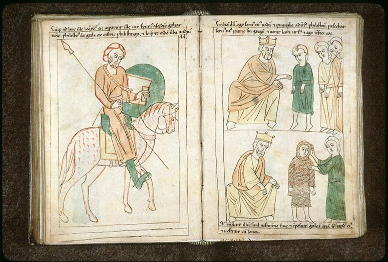 Bible en images - Saül faisant armer David_0