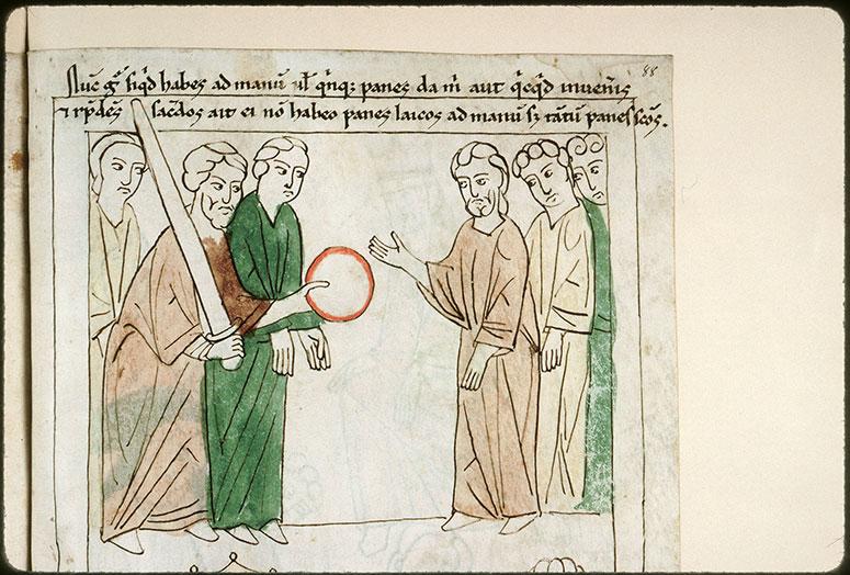 Bible en images - Ahimélek donnant à David du pain et l'épée de Goliath_0