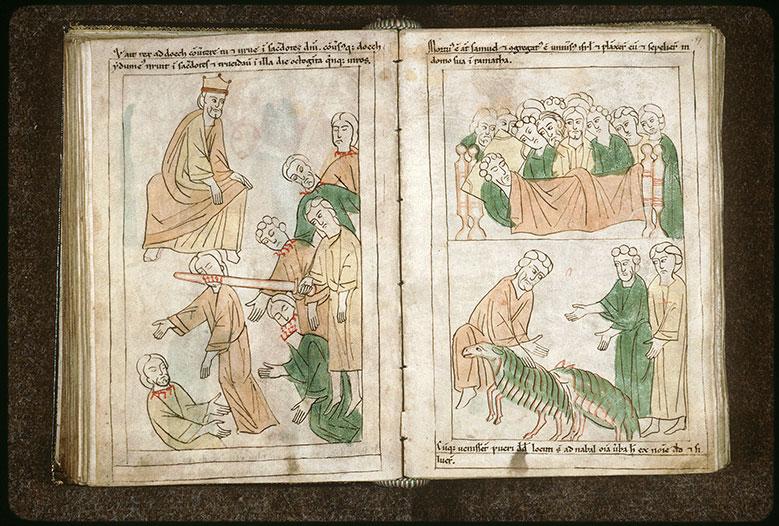 Bible en images - Nabal et les serviteurs de David_0