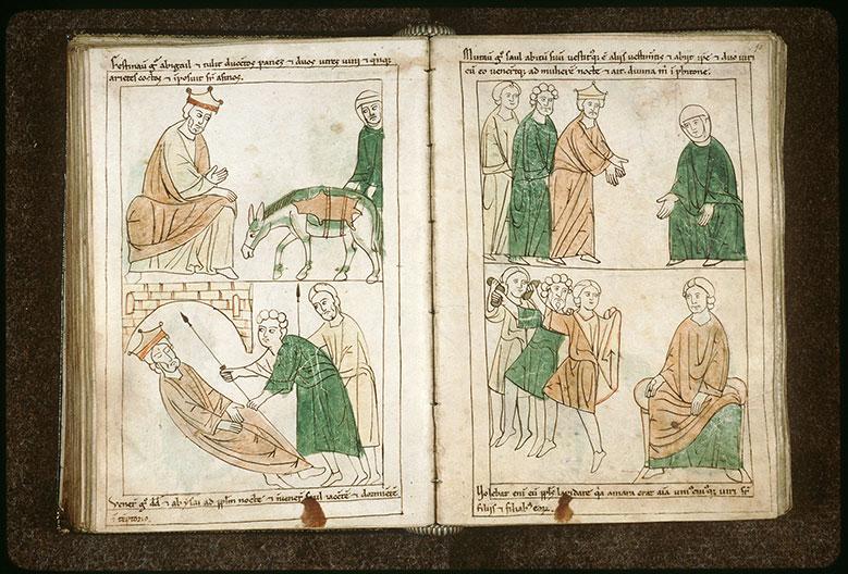 Bible en images - Abigayil apportant des vivres à David_0
