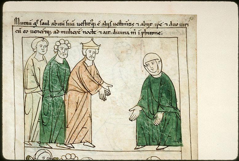 Bible en images - Saül consultant la nécromancienne d'En-Dor_0